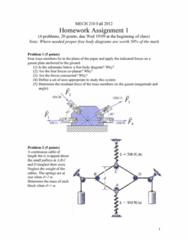 MECH 210 Lecture Notes - Free Body Diagram, Gusset Plate, Gusset