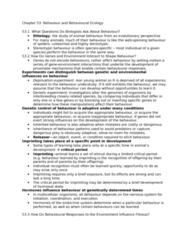 BIOL 4P41 Lecture Notes - Ethology, Freerunning, Endocrine System