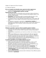 BIOL 4P58 Lecture Notes - Zygote, Evolutionary Radiation, Adaptive Radiation