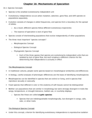 BIOL 4P58 Lecture Notes - Hybrid Zone, Chromosome, Reproductive Isolation