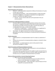 ACTG 2P40 Chapter Notes -Caveat Emptor, Financial Statement, Inequality Of Bargaining Power