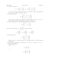 MATH 1502 Study Guide - Midterm Guide: Identity Matrix