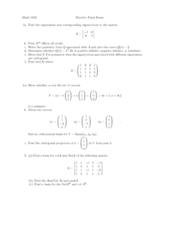 MATH 1502 Study Guide - Final Guide: Eastern Time Zone, Null Character, Diagonalizable Matrix
