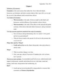 Economics 1021A/B Chapter Notes - Chapter 1-6: Marginal Cost, Demand Curve, Gross National Happiness