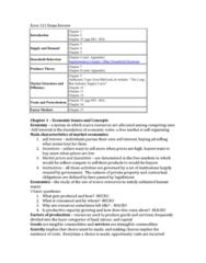 Microeconomics Exam Review Econ 110/111