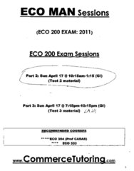 ECO 200 exam self generated solution