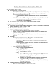 Sociology 2169 Chapter Notes -Homophily, Human Capital, Unemployment Benefits