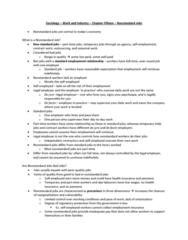 Sociology 2169 Lecture Notes - De Facto, Precarious Work, Unemployment Benefits
