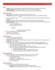 SOC222H5 Study Guide - Binomial Distribution, Standard Deviation, Statistic