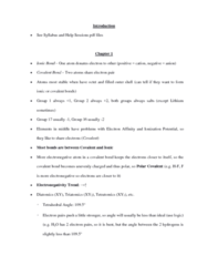 CHEM 2OA3 Lecture Notes - Covalent Bond, Electronegativity, Ion