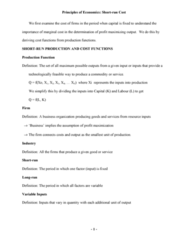 BU357 Lecture Notes - Average Variable Cost, Fixed Capital, Marginal Product