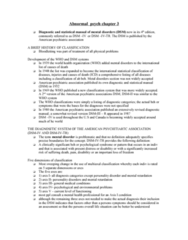 PSYC 311 Chapter Notes - Chapter 3: Depressive Personality Disorder, American Psychiatric Association, Posttraumatic Stress Disorder