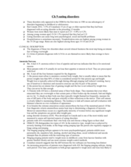 PSYC 311 Lecture Notes - Binge Eating Disorder, Binge Eating, Eating Disorder Inventory