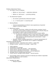 PSYC 311 Lecture Notes - Lecture 7: Attachment Theory, Attachment In Adults
