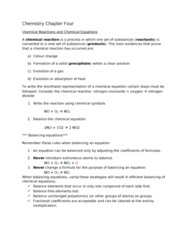 CHEM 1F92 Chapter Notes - Chapter 4: Triethylene Glycol, Chemical Equation, Nitric Oxide