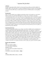 CHEM 123 Study Guide - Final Guide: Volumetric Flask, Ph Meter, Buffer Solution