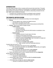 PSYC 3450 Lecture Notes - Lower Motor Neuron, Alpha Motor Neuron, Gamma Motor Neuron