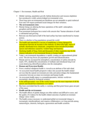 PSYC 3450 Chapter Notes - Chapter 1: Persistent Organic Pollutant, Climate Change, Biomedical Waste