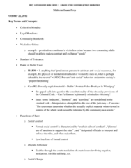 LAWS 1000 Study Guide - Final Guide: Mechanical And Organic Solidarity, Feminist Theory, Legal Realism