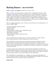 AFM102 Lecture Notes - Angel Investor, Hire Purchase, Cash Flow