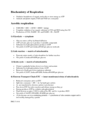 BIOL 1003 Lecture Notes - Oxaloacetic Acid, Anaerobic Respiration, Glycolysis