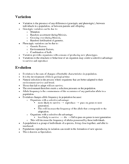 BIOL 1003 Lecture Notes - Meiosis, Mutation, Allele Frequency