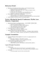 BIOL 1003 Lecture Notes - Schwann Cell, Exocytosis, Retina