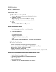 SOC307H5 Lecture Notes - Cognitive Dissonance, Silent Treatment, Operant Conditioning