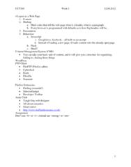 CCT360H5 Lecture Notes - Filezilla, Content Management System, Javascript