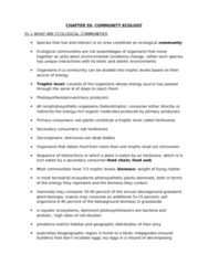 55-100 Lecture Notes - Secondary Succession, Competitive Exclusion Principle, Decomposer