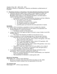55-100 Lecture Notes - Allele Frequency, Genetic Drift, Population Genetics