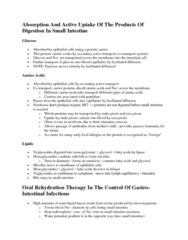 BIL 118 Lecture Notes - Water Potential, Diarrhea, Oral Rehydration Therapy