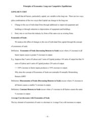 CBUS 001 Lecture Notes - Competitive Equilibrium, Cogeneration, Perfect Competition