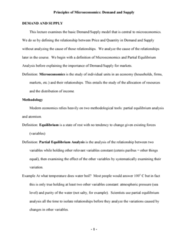 CBUS 001 Lecture Notes - Opportunity Cost, Ceteris Paribus, Demand Curve