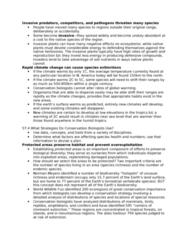BIOL 467 Lecture Notes - Cites, Ecosystem Services, Species Richness