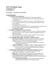 ENV 319 Lecture Notes - Precautionary Principle, Adaptive Management