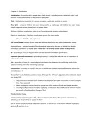 SOC 1200 Lecture Notes - Thomas Theorem, Midlife Crisis, Machismo