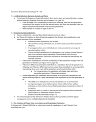 STAT 2230 Lecture Notes - Meiosis, Modern Synthesis (20Th Century), Microevolution