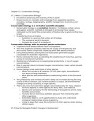STAT 2230 Lecture Notes - Overexploitation, Habitat Destruction, Biogeography