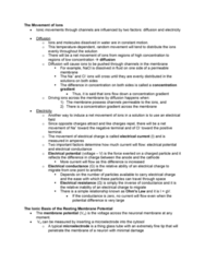 STAT 2230 Lecture Notes - Neurophysiology, Active Transport, Ion Transporter