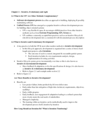 ITM 430 Chapter Notes - Chapter 2: Whiteboard, Software Development Process, Iterative And Incremental Development