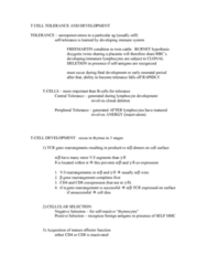 BIOL 2005 Lecture Notes - Thymocyte, T-Cell Receptor, Clonal Deletion