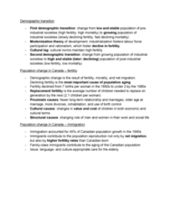 SOCA02H3 Lecture Notes - Lecture 3: Population Ageing, Social Exchange Theory, Disengagement Theory
