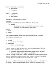 French 3830A/B Lecture Notes - Bruit, Les Variations, La Bouche