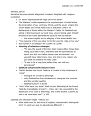 ENGB31 Lecture Notes - Courtly Love, Mortal Sin, Clang