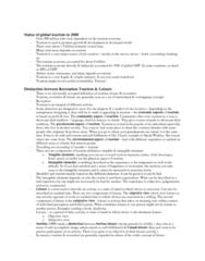 GEO 802 Study Guide - Market Failure, Water Park, Millennium Dome