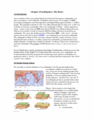 Geography 2240A/B Lecture Notes - Mercalli Intensity Scale, United States Geological Survey, Megathrust Earthquake