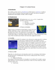 Geography 2240A/B Lecture Notes - Cyclonic Rotation, Tornado Alley, Cumulus Cloud