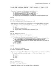 MGMT 1050 Lecture Notes - Standard Error, Statistical Parameter, Interval Estimation