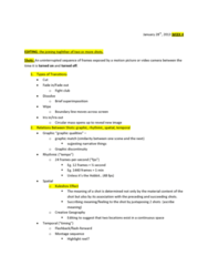 FS101 Lecture Notes - Lecture 4: 180-Degree Rule, Eyeline Match